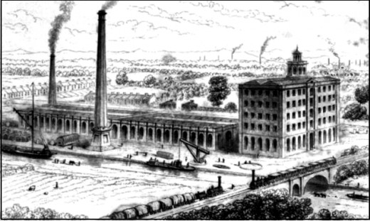 "Coal fired factories such as this led to the ""Valley of Ashes"" at Flushing Meadow."