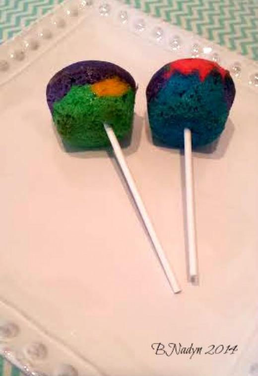 Easy rainbow cake pops