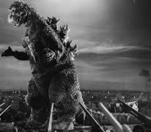 The first Godzilla movie was produced in Japan in 1954.