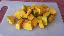 squash, ready to be cooked.