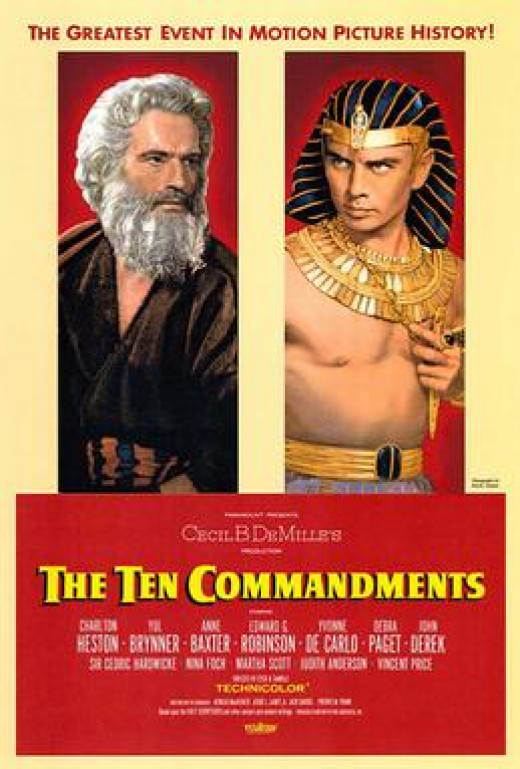 The Ten Commandments staring Charleton Heston and Yul Brenner