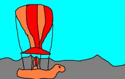 In the 19th Century there were balloon flights covering great distances and fictional accounts of great balloon flights.