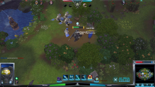 Raynor captures a Mercenary camp, adding some ranged support to his minions' attack!