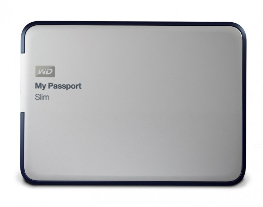 WD My Passport Slim 1TB Portable Metal External Hard Drive USB 3.0 with Auto and Cloud Backup