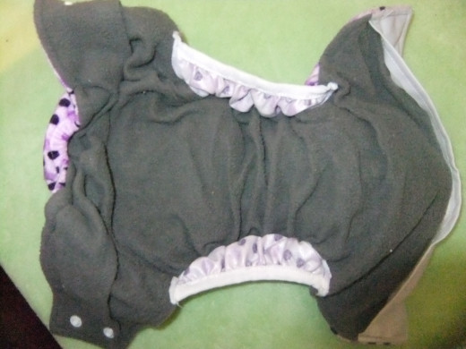 Charcoal bamboo inner of Happy Flute diaper