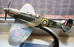 A model of a British Spitfire.