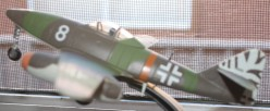 A model of a German World War Two jet fighter. There were too few to make a real difference.