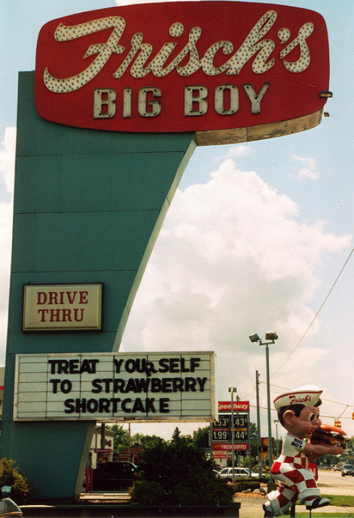 Former Frisch's Big Boy in West Columbus, Ohio. Big Boys have their own burger sauce.