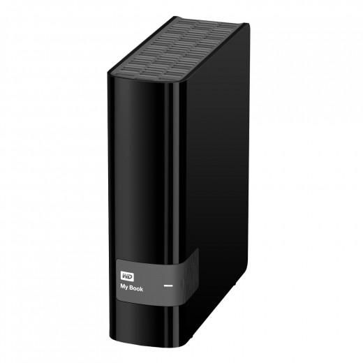 WD My Book 4TB USB 3.0 Hard Drive with Security, Local and Cloud Backup