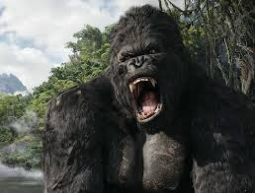 King Kong the remake in 2005 stars Jack Black, Adrien Brody and Naomi Watts. The film is rated PG-13.