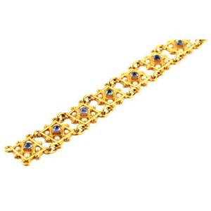 CASTELLANI Reversible Gold and Gemset Bracelet