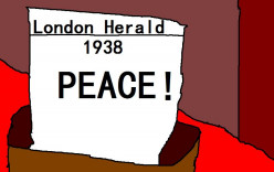 There was a belief in 1938 that there could be peace between Nazi Germany and the British Empire.