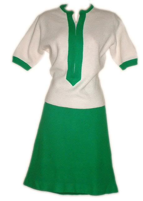It has sleeves and a high neckline, but looks like something a leprechaun might wear on St. Patrick's Day leading a girl scout troop through town.
