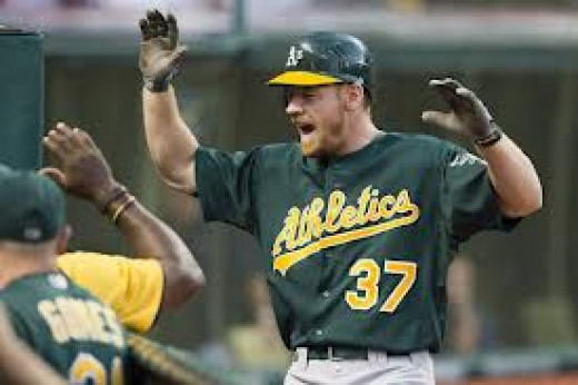 Brandon Moss has the Oakland Athletics at the top of the rankings this week.