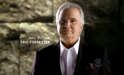John McCook as Eric Forrester - Opening credits 2012