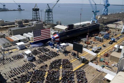 USS North Carolina SSN 777 Christening at Northrop Grumman Newport News, 4/21/2007.