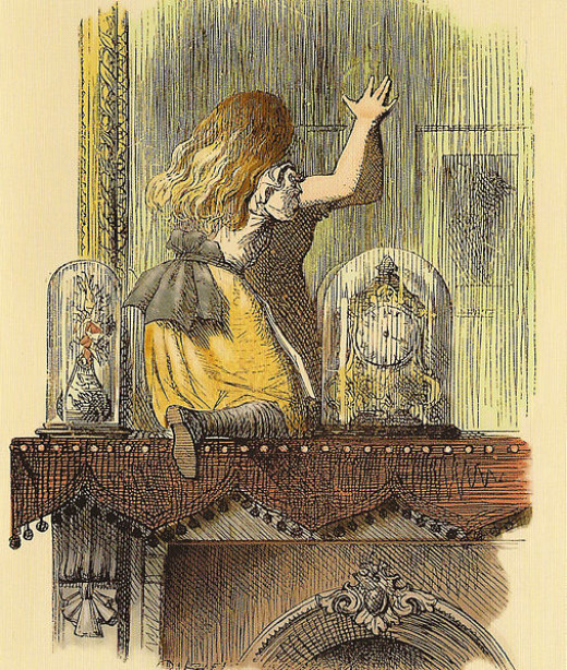"""John Tenniel sketch from """"Alice through the looking glass"""" 1871"""