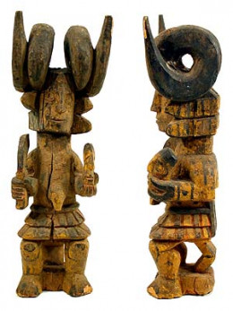 An ikenga figure from the Hamill Gallery in Boston.