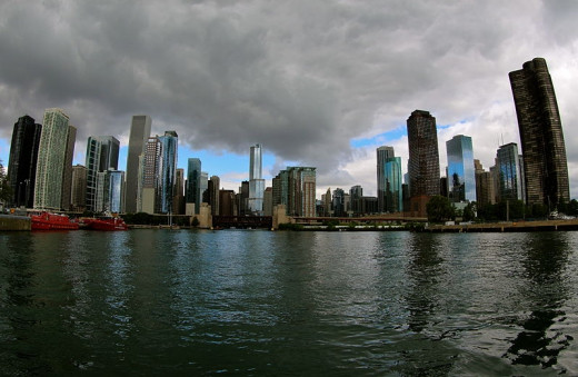Chicago is known for its architecture and use of the lakeshore and river.