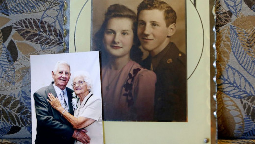 Viands - wedding day and 70th anniversary