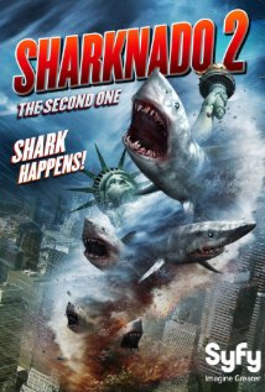 """Sharknado 2: The Second One"" poster"