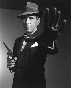 "Humphrey Bogart as ""Sam Spade."""