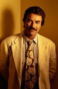 "Tom Selleck as ""Magnum, P.I."""