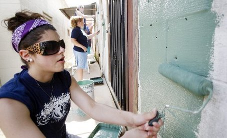This picture of a volunteer painting a church in Gentilly was taken in 2009.  There are several regions throughout New Orleans in disrepair and have yet to be addressed 9 years later.