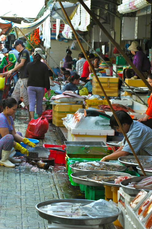 Seafood at the Ben Thanh Markets, Saigon © A Harrison