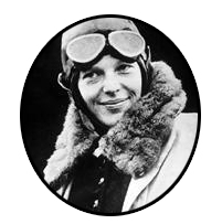 Amelia Mary Earhart - first female pilot to fly solo
