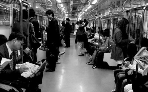 Inside one of Seoul's subway train