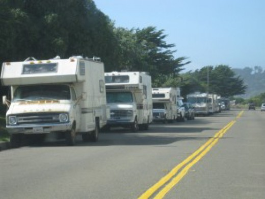 Campers on the Road