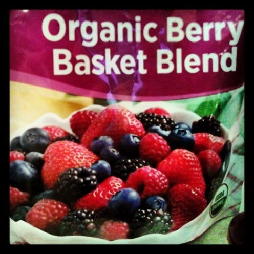 (Sometimes I use organic Blueberries instead of mixed).