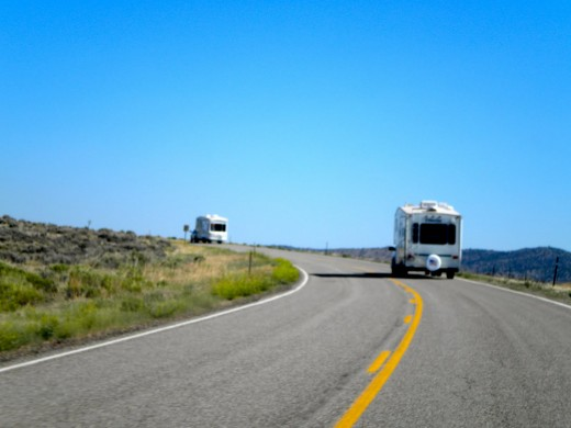 The sight of camper heading north can seem like a weeks long parade on the inter-sate highways at times.
