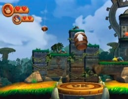 The Kongs use barrel cannons to be transported to different areas in the levels.