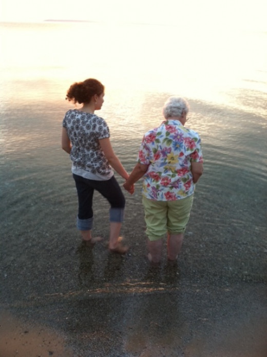 """Any act of kindness is never wasted.  Making the cold water """"better"""" as I hold my grandmother's hand."""