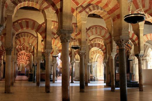 Interior Mezquita Cordoba Spain