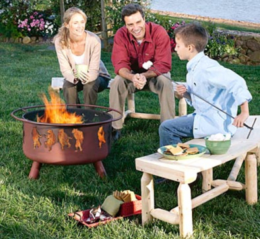 Fire pits come in all sizes and styles. Something small is perfect if you're tight on space or looking for something inexpensive.