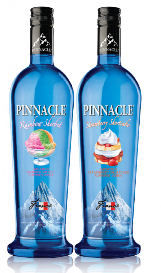Yumm, Rainbow Sherbet and Strawberry Cheesecake flavored Vodka. Targeted at children?