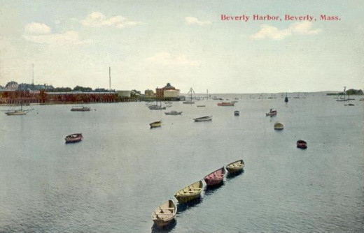A view of Beverly, Massachusetts, Harbor