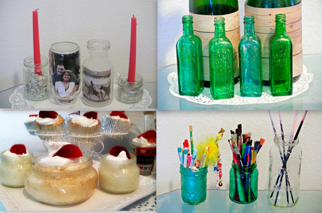 Creative ways to recycle and re purpose glass bottles and for Reuse glass