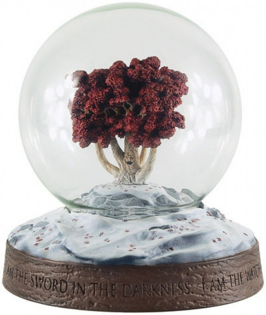 Weirwood tree snow globe