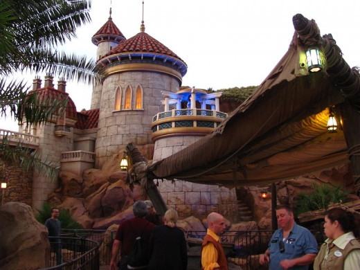 There are several quiet spots around Fantasyland if you know where to look.