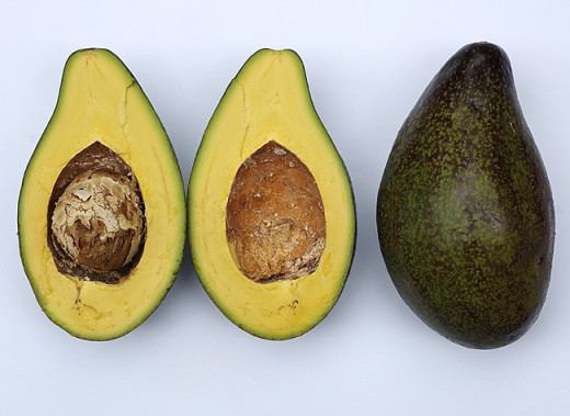A cross section image of avocado pear