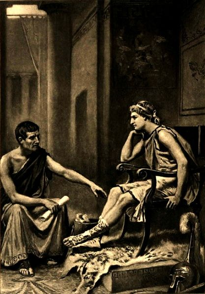 Aristotle was a tutor of Alexander the Great (356 B.C. 356 - B.C. 323). Aristotle was his teacher from boyhood until the age of sixteen.