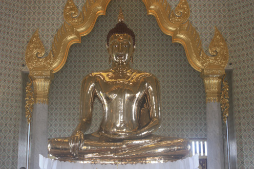 Solid Gold Lord Buddha at Wat Traimit