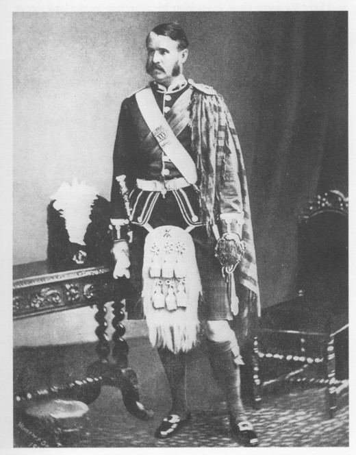 Image of W. S. Gilbert as Captain in the Royal Aberdeenshire Highlanders (1875-1878).