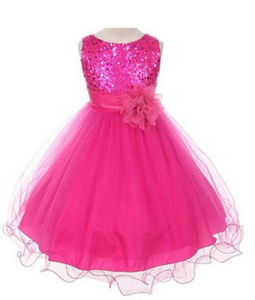 Sequin Bodice Flower Girl Dress