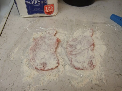 Cover in flour