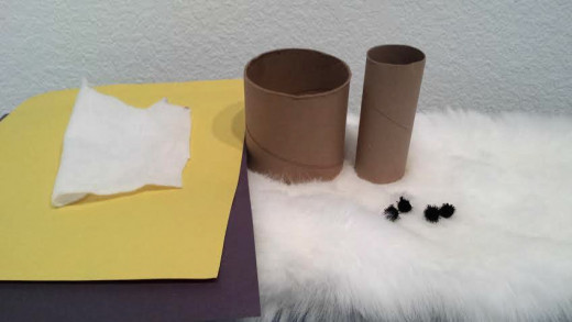 Use toilet paper tubes and other materials you have around the house for this simple penguin craft.